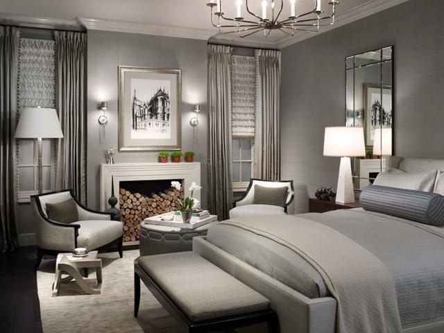 Мебель в интерьере спальни хайтек