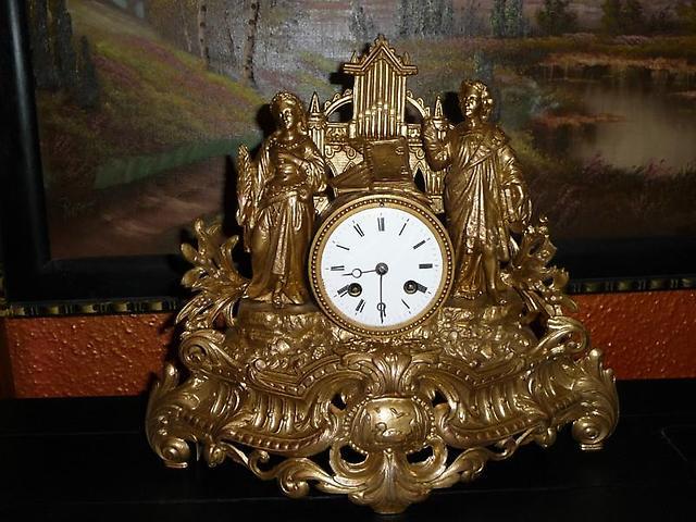 Напольные бронзовые часы