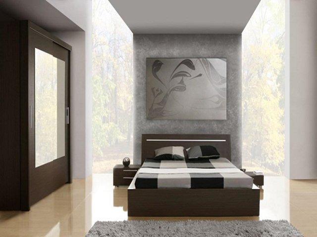 дизайн с кроватью и шкафом-купе