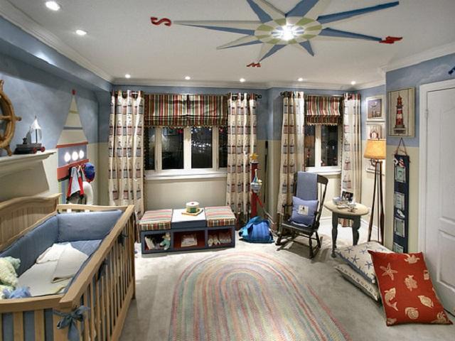 Детская комната для мальчика до одного года