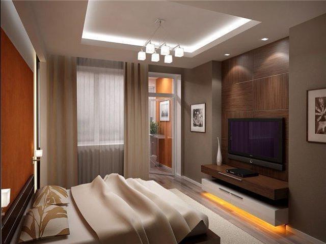 бесцветные прозрачные шторки для спальни с лоджией