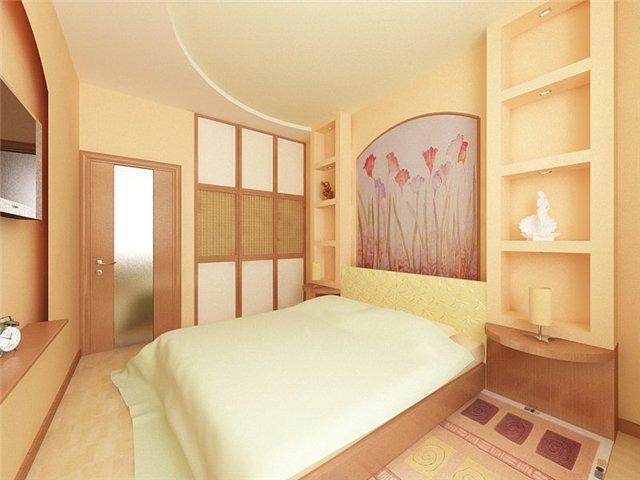 Красивый дизайн небольшой спальни