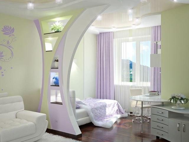 Дизайн гостиной – спальни 18 кв. м.