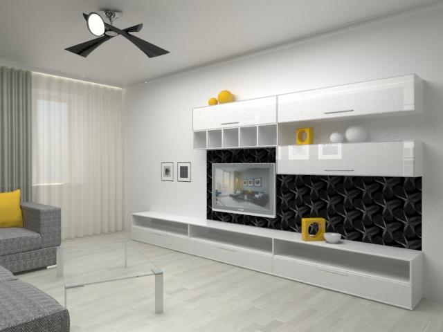 гостиная с мебелью в минимализме