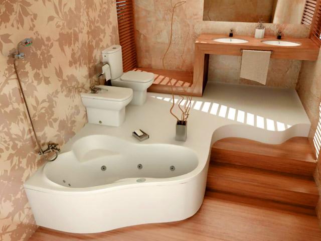 Авторский интерьер ванной комнаты