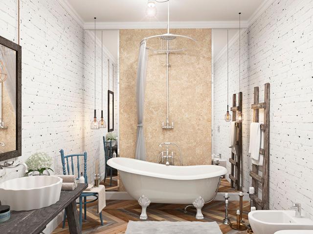 Скандинавский стиль для ванной