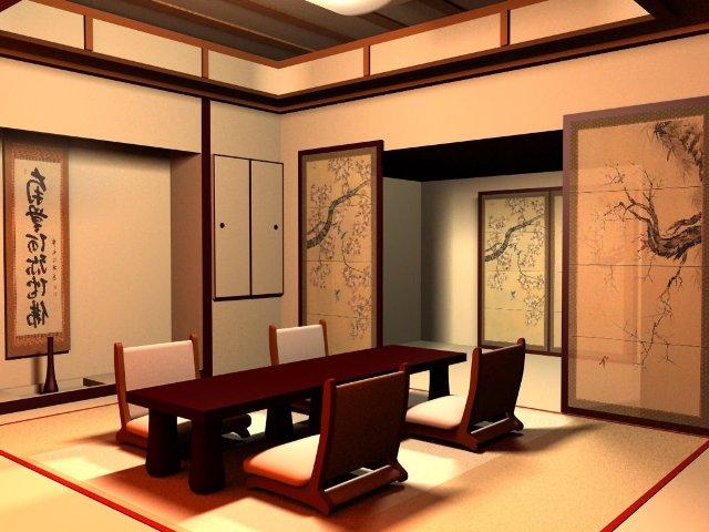 Комната в японском