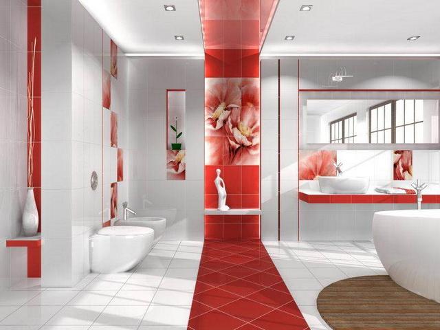 Виды красных ванных комнат Набор из 4-х ножек Traditional, цвет Хром