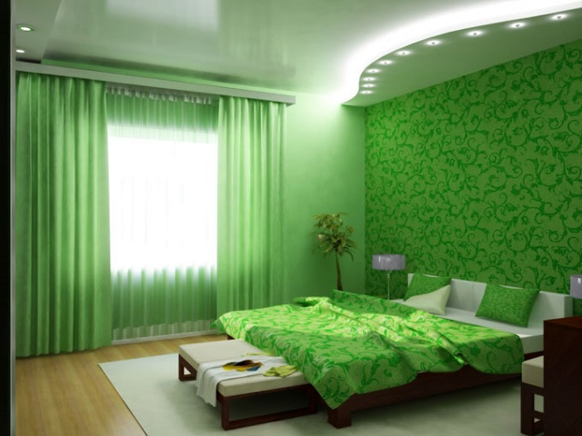 Цвет стен в спальне