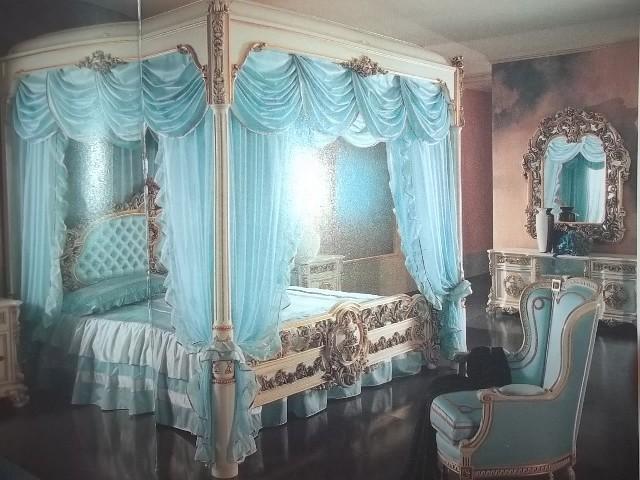 дизайн спальни в серо-голубом