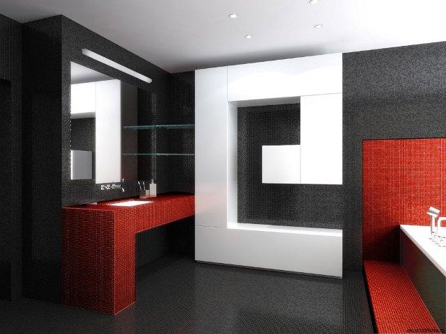 Доминирующий черный в интерьере стиля хай-тек