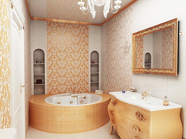 Ванная под «золото»