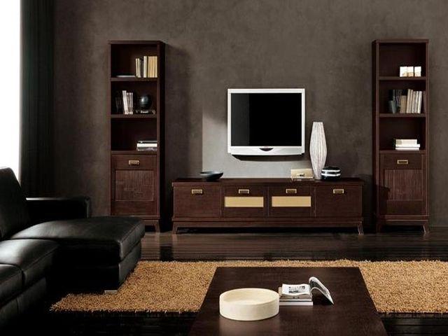 Гостинная с мебелью венге