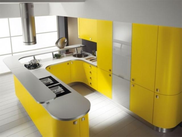 жёлтый мебельный ансамбль