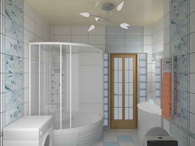 ванная комната в городской квартире