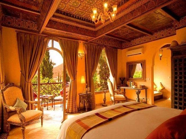 преобладание оранжевого в марокканском дизайне