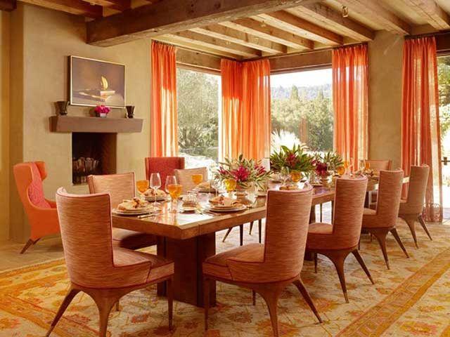 Красивая терракотовая гостиная