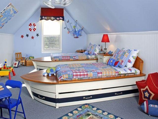 капитанская каюта в детской спальне