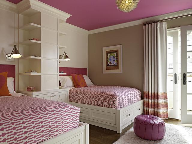 кремовый и розовый цвета в интерьере детской