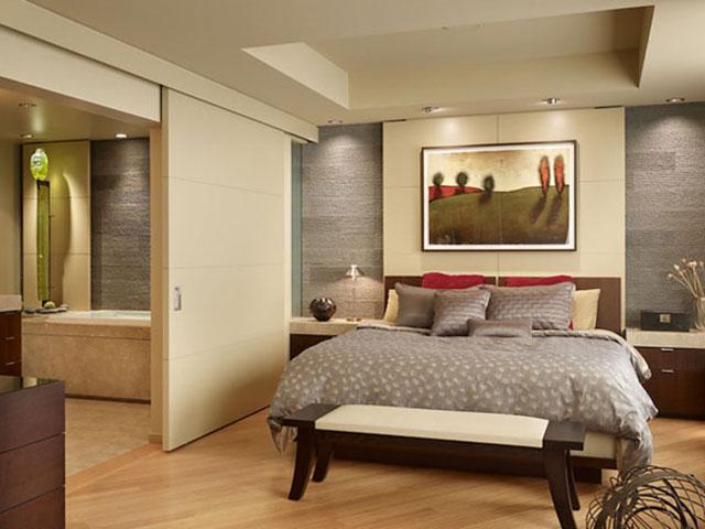 разделение комнаты на зоны с помощью ширмы