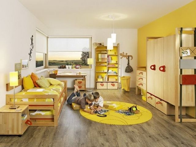 лимонные аксессуары в детской комнате понравятся и малышу и его родителям