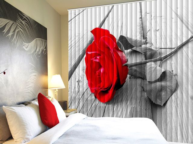 фотожалюзи для спальни с неприятным видом из окна