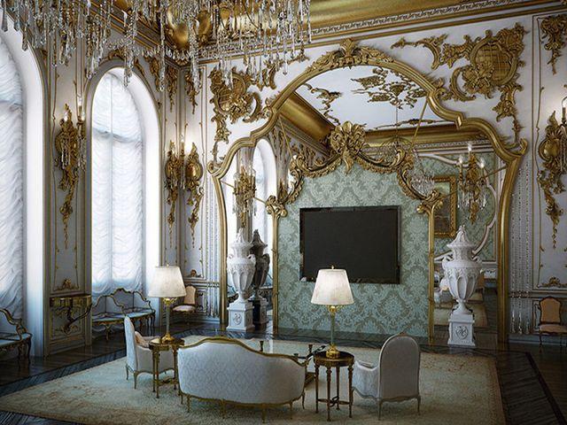 богатая лепнина на стенах – обязательный элемент барокко