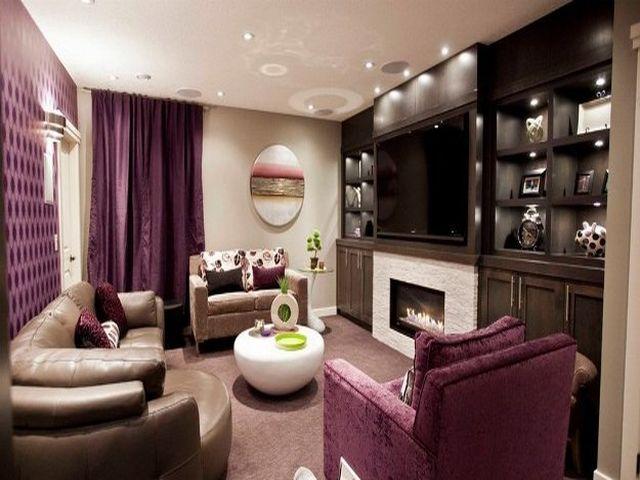 гостиная в лиловых тонах