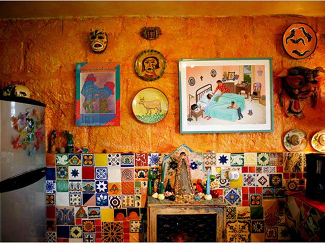 использование оранжевого цвета в мексиканском стиле