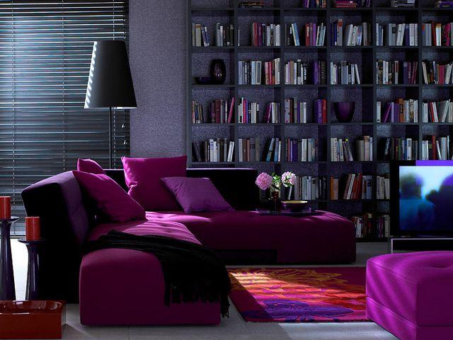 Пурпурный цвет в интерьере