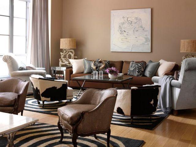 Серо-коричневый цвет в интерьере
