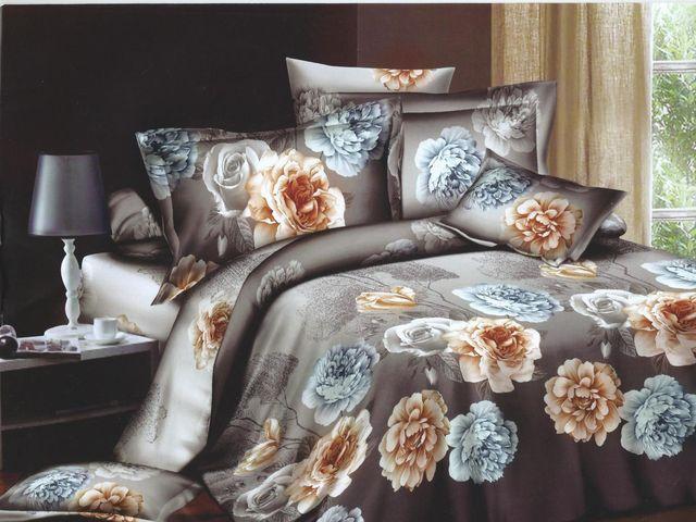 постельное белье серо-коричневого цвета выглядит очень уютно