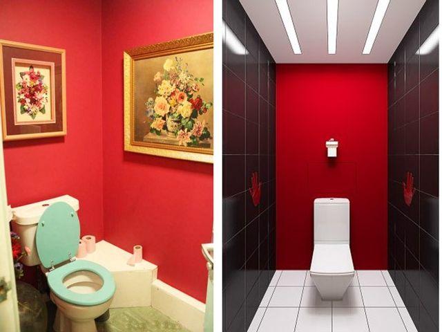 туалет в красном цвете – большая ошибка