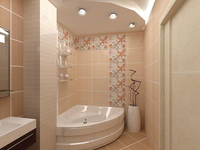 Интерьер ванной комнаты в панельном доме