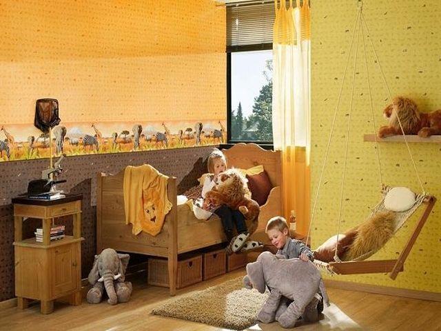 комната мальчика в стиле сафари