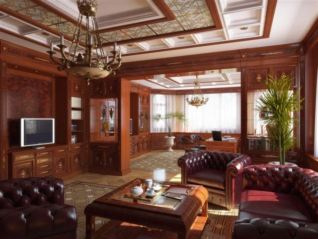гостиная в британском стиле