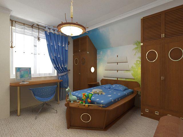 Детская комната в морском экостиле