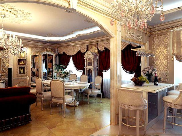 ламинат в готическом интерьере