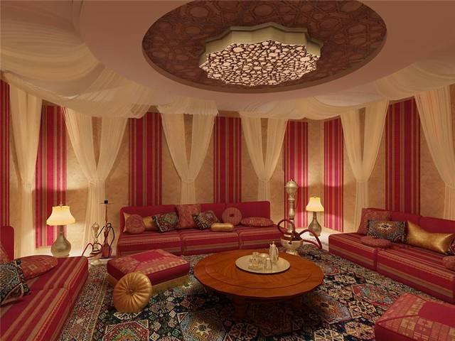 мягкая мебель в индийском интерьере