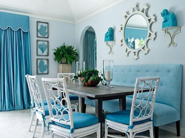 Бархатные шторы в королевском голубом цвете