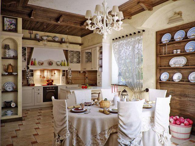 Полка с посудой в русском стиле