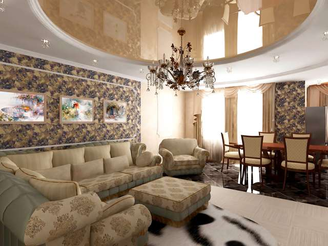 дорогой гостиничный номер в неоклассическом стиле
