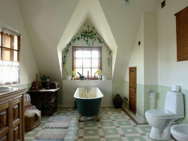 ванная комната в старорусском стиле