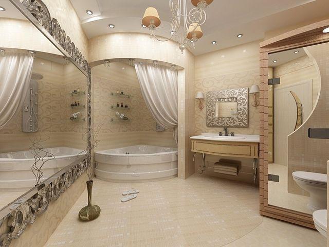 просторная совмещенная ванная комната
