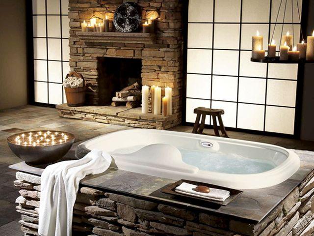 ванная комната в рустикальном стиле