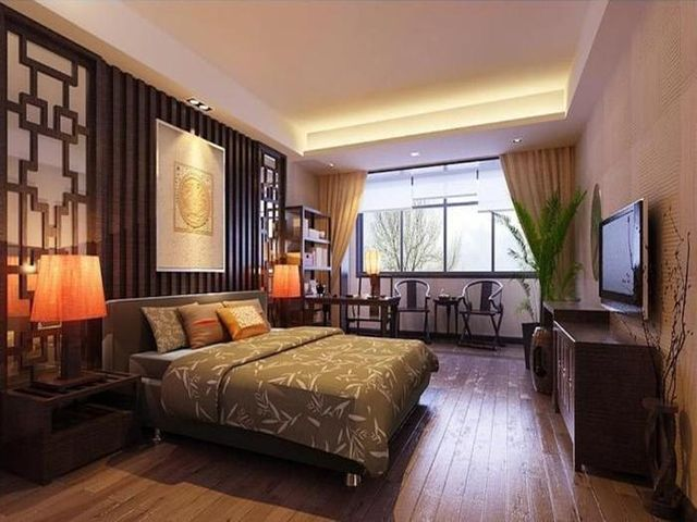 сдрежанная комната в азиатском стиле