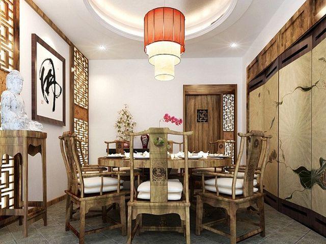 восточная кухня с каменным полом