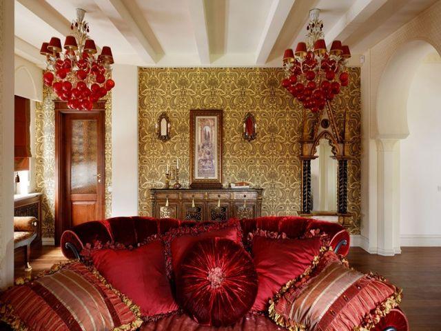 роскошная восточная гостиная