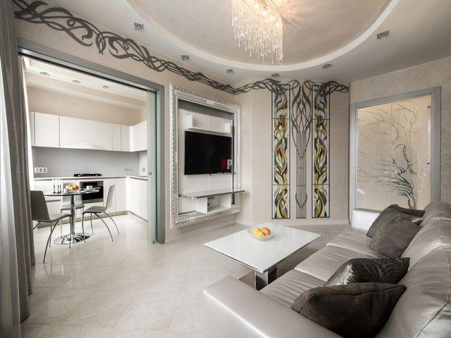Современная гостиная в стиле арт-нуво