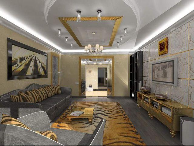 интерьер спальни и гостиной в стиле арт-нуво